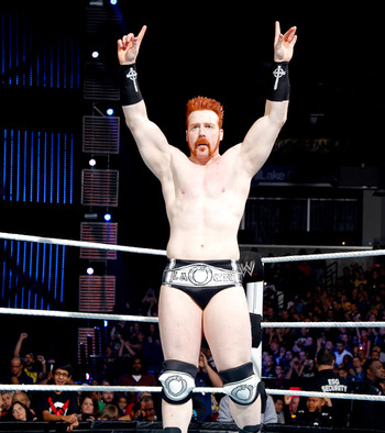 The Celtic Warrior showed that simple works at Survivor Series with a pair of black, silver and white trunks. Photo Courtesy of WWE.com