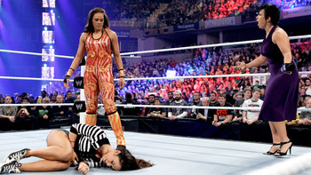 Tamina's new role with Vickie Guerrero may be unclear, but the awfulness of her outfit is pretty obvious. Photo Courtesy of WWE.com
