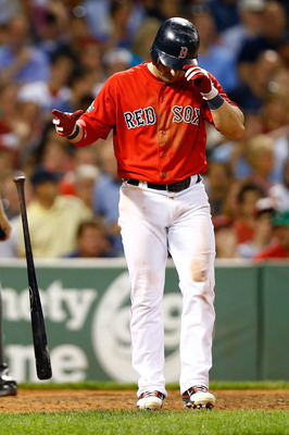 Nick Punto was just 6-for-49 (.122 AVG) in his first two months with the Red Sox.
