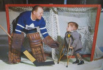 Goaltender Turk Broda helped the Leafs win their second Stanley Cup in a row in 1947-48.