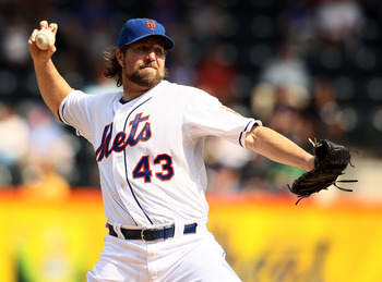 R.A. Dickey was the NL Cy Young award winner for the Mets in 2012, and comes at a very reasonable price tag.