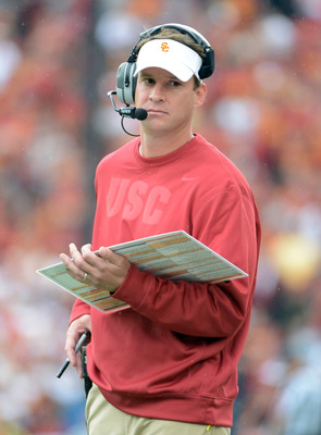 The play calling by Kiffin was peculiar at times