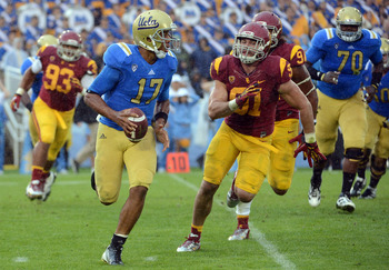 This picture might be symbolic of USC chasing after UCLA in upcoming years