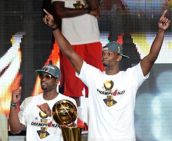 They both contributed to a title, but Bosh contributes more when Wade's out.