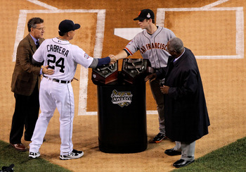 Miguel Cabrera and Buster Posey met in the 2012 World Series.