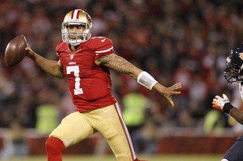 Kaepernick led the Niners to a big win Monday night