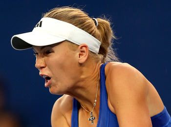 Wozniacki has slid down the rankings in 2012