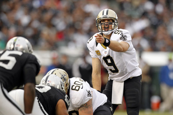 Drew Brees leads the NFL with 28 touchdown passes.