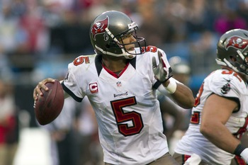 Josh Freeman is blossoming in 2012 with 21 touchdown passes so far.