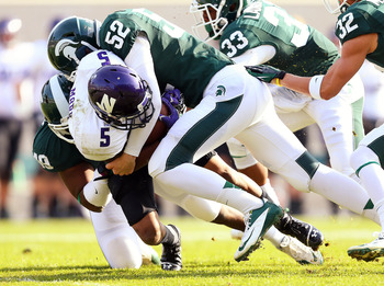 MSU held NU's Venric Mark to nine all-purpose yards before he left with an injury.