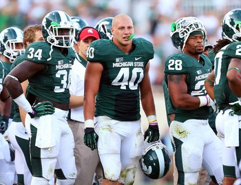 Max Bullough leads the Spartans with 95 tackles and 11 for loss.