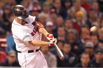Kevin Youkilis' career hitting numbers are better when he plays first base.