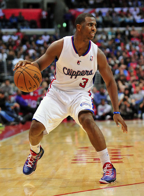 November 17, 2012; Los Angeles, CA, USA; Los Angeles Clippers point guard Chris Paul (3) controls the ball against the Chicago Bulls during the second half at Staples Center. Mandatory Credit: Gary A. Vasquez-US PRESSWIRE