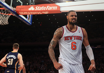 Tyson Chandler is the leader of a staunch Knicks defense