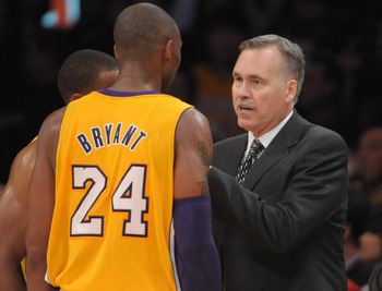 Mike D'Antoni coached and won his first game with the Lakers on Tuesday night.