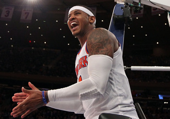 Carmelo Anthony is finally putting together a complete game.