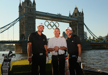 Mark King, center, has taken TaylorMade international.