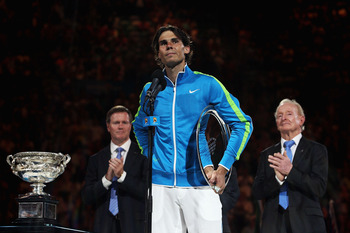 Rafael Nadal, along with Novak Djokovic, partook in one of the greatest Grand Slam finals ever at the 2012 Australian Open.