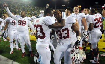 Stanford after knocking off Oregon last Saturday.