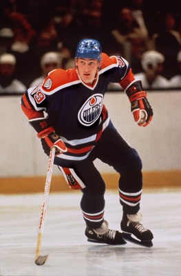 "Prior to ""The Trade"": Gretzky with the Edmonton Oilers."