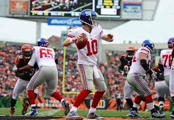 Giants offensive line has provided Eli Manning with great protection.