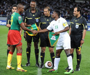Katongo with Samuel Eto'o