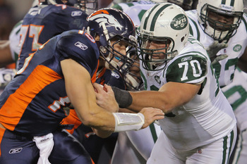 Mike Devito and the Jets up front failed to slow down the Pats rushing attack.