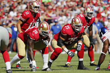 The 49ers' offensive line has been inconsistent in pass protection