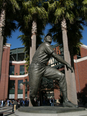 The Willie Mays statue greets you at the front of AT&T Park