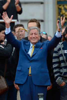 Tony Bennett sang at the Giants' victory parade