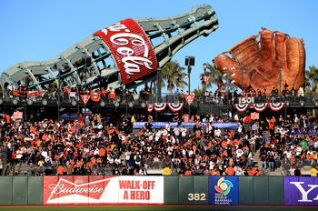 The coke bottle kids slide and huge glove are just two of the many sights at AT&T Park