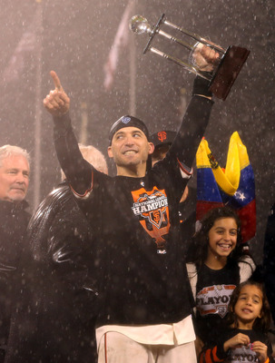 Marco Scutaro was named the 2012 NLCS MVP, recording 14 hits in the series.