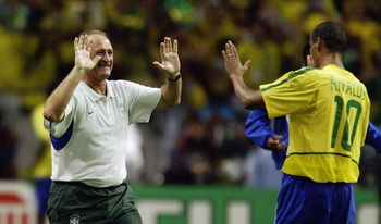 Luis Felipe Scolari led Brazil to glory in 2002