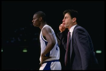 Jamal Mashburn and Rick Pitino in 1993.