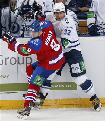 Alex Ovechkin in game action in the KHL (AP)