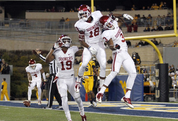 The Jalen Saunders punt return touchdown changed the flow of the game and catapulted the Sooners to the win.