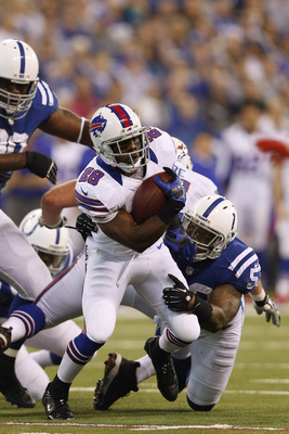 C.J. Spiller runs for 20 yards in first quarter to set up a Lindell field goal.
