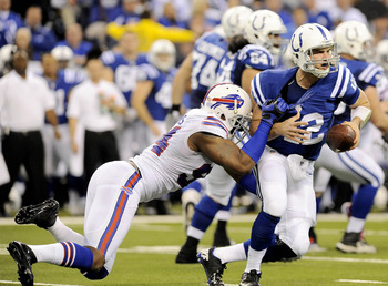 One of Mario Williams three sacks of Andrew Luck.