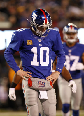 Eli and the Giants looked run down in the weeks before their bye.