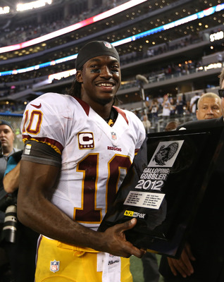 RG3 is already winning hardware in his rookie campaign.