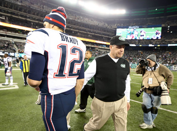 Tom Brady hands Rex Ryan and the Jets another loss in 2012.