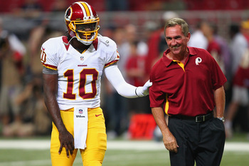 Mike Shanahan is all smiles after the latest winning streak
