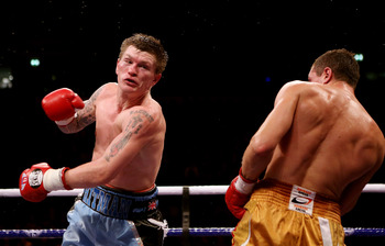 Hatton was missing wildly with his left hook all night.