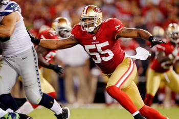 The forgotten 49ers linebacker was the star of the show.