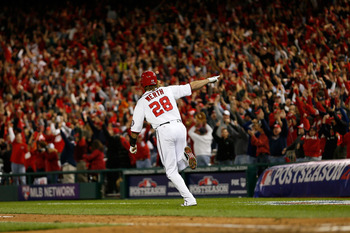Werth walking-off in Game 4 of the NLDS.
