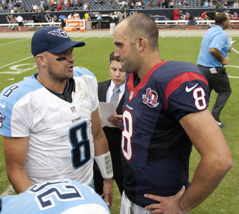 Matt Schaub will probably go up against Jake Locker instead of Hasselbeck