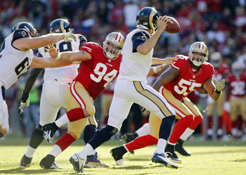 The 49ers will be putting pressure on Sam Bradford.