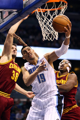 Gustavo Ayon attempts a layup against Cleveland.