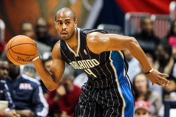 Arron Afflalo, the team's leader in scoring, sprints the floor against Atlanta.