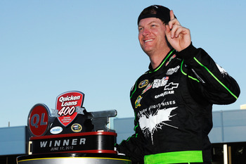 Dale Earnhardt Jr. won for the first time in four years at Michigan in June